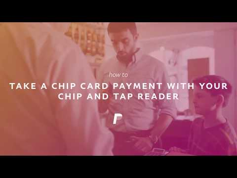 PayPal Chip and Tap card reader: How to take a chip card payment