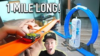 1 MILE OF HOT WHEELS TRACK INSIDE MY $1,000,000 WAREHOUSE!