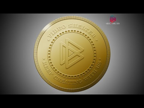 Adobe Photoshop Tutorial cc 2015 | How to create realistic Gold Coin effect in Adobe Photoshop.