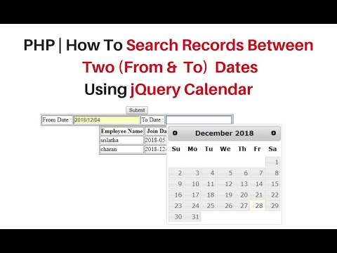 ajax php mysql date range search using jquery 3.3.1 datepicker