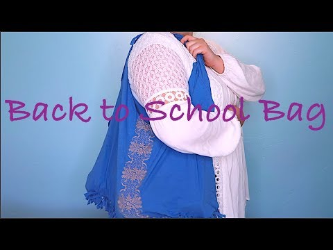 How To Make A Back To School Bag!