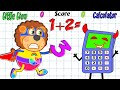 Lion Family Learn Numbers Math Contest Vs Calculator Cartoon For Kids