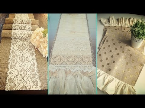 ❤DIY Shabby chic style Burlap Table Runners & Placemats decor Ideas ❤ | Home decor | Flamingo Mango