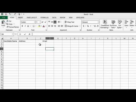 How to Track the Recruiting Process in Microsoft Excel : MS Word & Excel