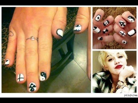 Miley Cyrus Inspired Nail Art