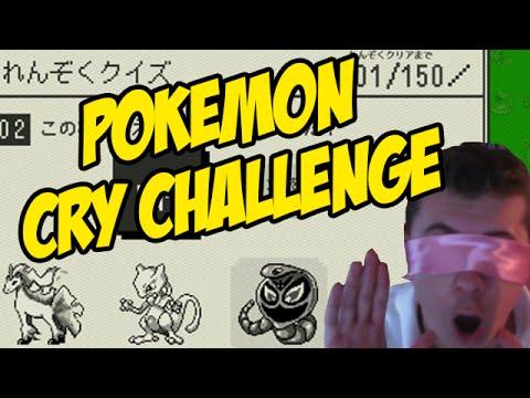 150 POKEMON CRY CHALLENGE - BLINDFOLDED!