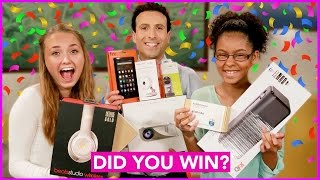 GIVEAWAY WINNERS Announced! (Watch to see if you won!)
