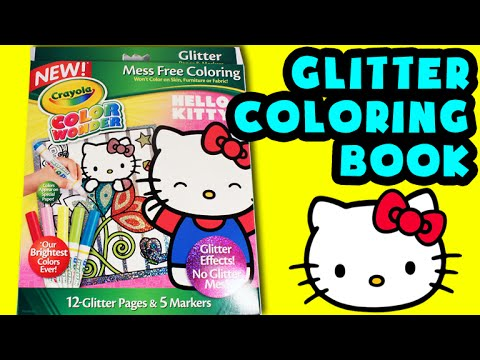 10d55aa2a2ad ☆Hello Kitty Crayola Coloring Book☆ Glitter Color Wonder Hello Kitty Kids  Activities Book Videos