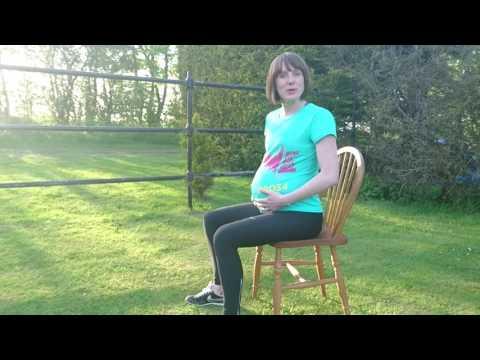 Sitting posture in pregnancy - pelvic tilting exercise