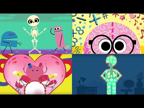 StoryBots | Learning Songs About The Human Body | Bones, Brain, Heart, Lungs & Stomach