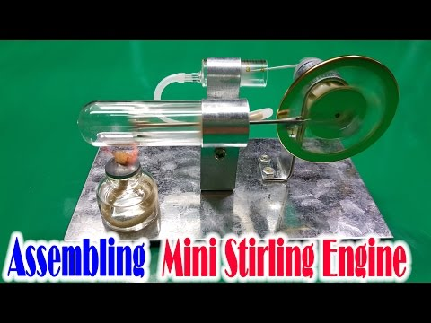 How to Assembling Mini Stirling Engine Model Educational Toy Kits
