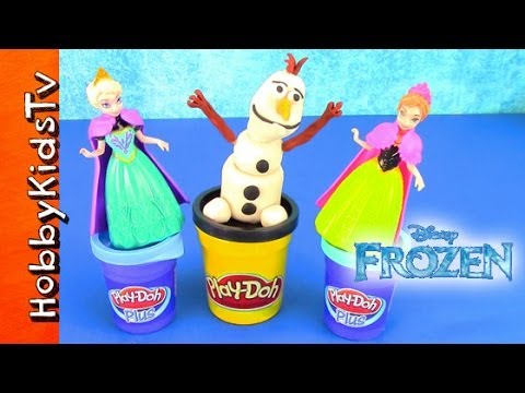 PLAY-DOH Disney Movie FROZEN Surprise Toy Eggs! Olaf Elsa Anna Movie MLP Hero Angry Birds
