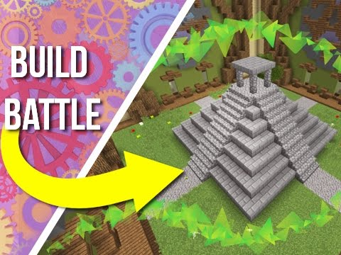 Building An Aztec Temple on BUILD BATTLE!