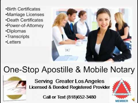 California Apostille Service in Los Angeles