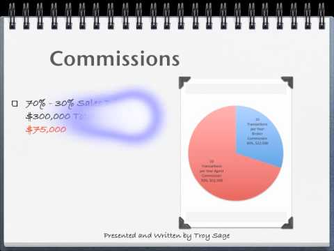 Real Estate Commissions.  What an agent can make by selling 10 homes