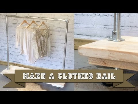 Build a Clothes Rail Display Rack from Kee Klamp Scaffold and Boards with Basic DIY Tools