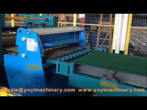 metal door automatic cut to length line, hollow metal doors manufacturing process