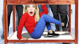 Sneaking into GAME MASTER Inc. Headquarters for 24 HOURS! (Best Friend Missing) | Rebecca Zamolo