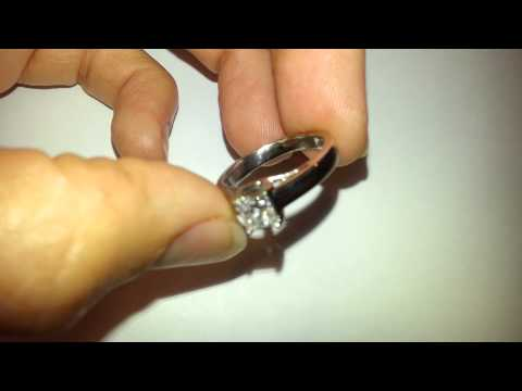 Tolkowsky Ideal cut Princess .47 carat Genuine Diamond Solitaire in 14kt wg Cathedral mounting