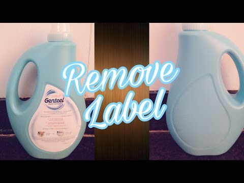 How to remove Label / sticker on plastic or glass