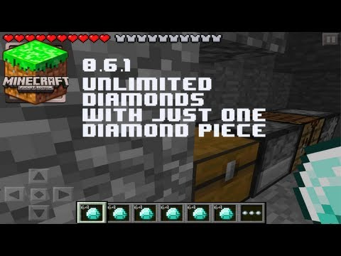 Minecraft Pocket Edition - Unlimited Diamonds With One Piece Glitch 0.7.4 iPod/iPad/iPhone