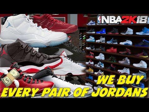 BUYING EVERY PAIR OF JORDANS! NBA 2K18