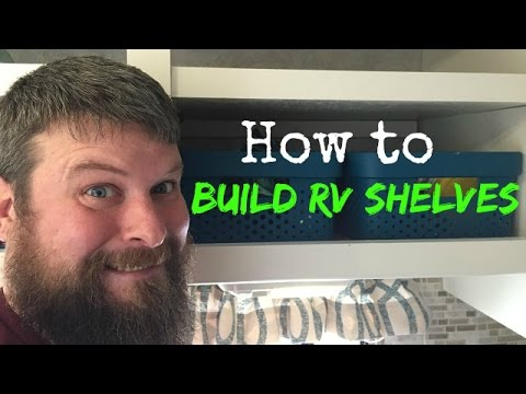 How to build shelves for your RV cabinets