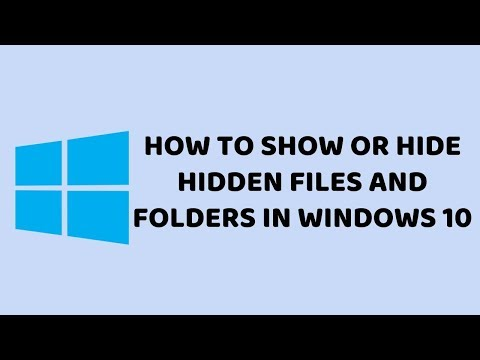 How To Show or Hide Hidden Files And Folders In Windows 10  | Easy Tutorials in Hindi