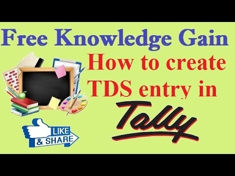 How To Create TDS In Tally ERP 9 - TDS Entry In Tally ERP 9