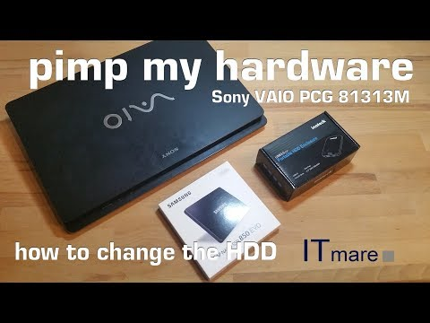Sony PCG 81313M // VPCF23A9E replace the HDD to SSD