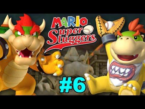 Mario Super Sluggers - Bowser Monsters Vs. Bowser Jr. Rookies @ Bowser Castle
