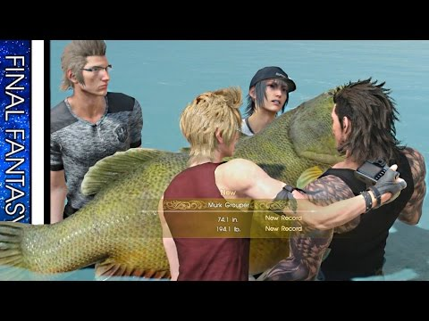 FINAL FANTASY 15 · Angler's Nightmare - Devil of the Cygillan (Murk Grouper) [Navyth sidequest]