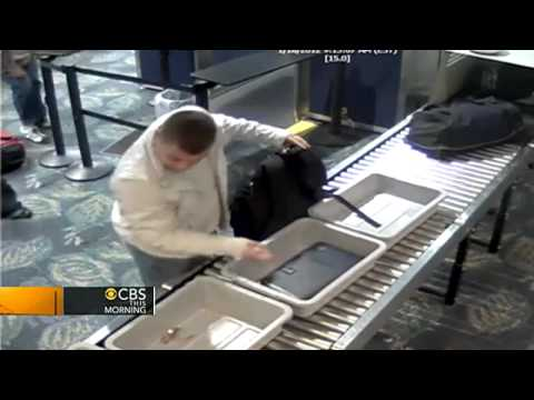 On tape: Man steals Rolex from security at airport