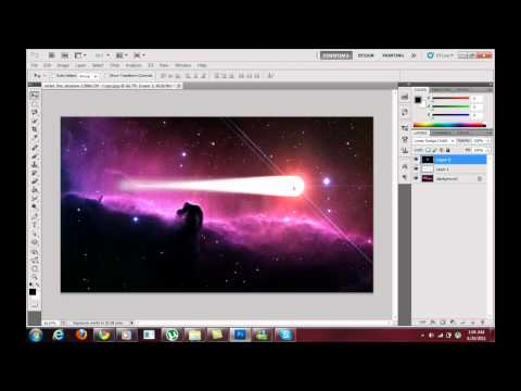 Adobe Photoshop CS5/4 - Create A Shooting Star
