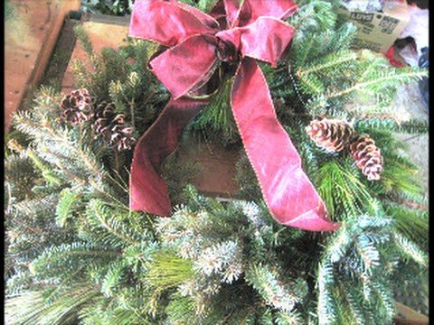 How to make a Christmas Wreath for School Fundraiser Ideas Out of White Pine Spruce Tree Branches