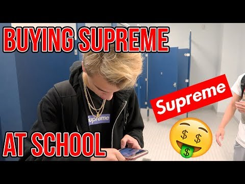 WHAT ITS LIKE BUYING SUPREME AT SCHOOL!!