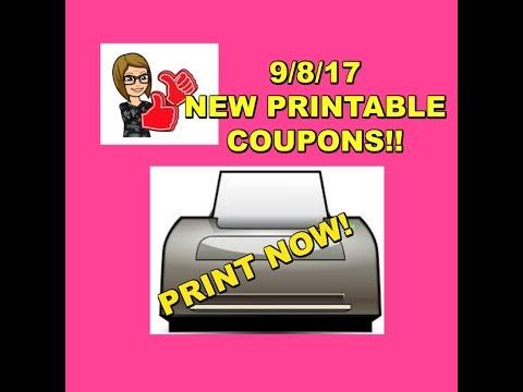 9/8/17 -NEW PRINTABLE COUPONS