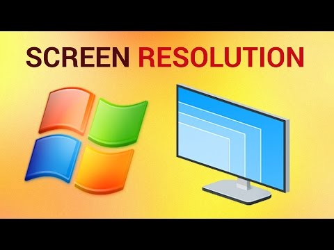 How to Change Screen Resolution