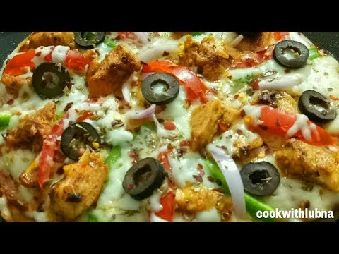 No Yeast No Oven Pizza | Chicken Pizza Without Oven | Easy And Yummy  Pan Pizza