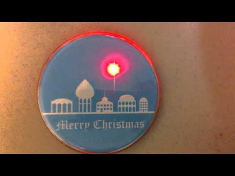 Christmas Ornament Clear Plastic Button