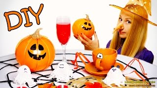 DIY Halloween Decorations (includes jump scare) – How To Make Ghosts, Pumpkins, Spiders, Webs etc.