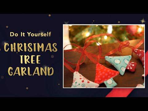 Fabric Christmas Garland Tutorial