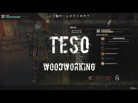 Elder Scrolls Online - Smooth Work - Crafting - Woodwork Leveling