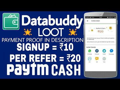 Databuddy App : Earn Rs.120 Paytm cash • Signup Rs.10 Paytm Cash • Rs. 20 per refer Paytm • V Talk