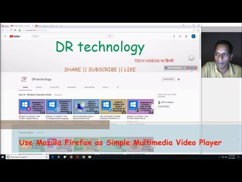 How To Use Mozilla Firefox as Simple Multimedia Video Player | Easy Tutorials In Hindi