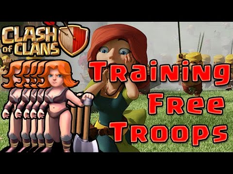 Clash of Clans : TRAIN ANY TROOPS FOR FREE !! w/o any cost !! No Hacks !! No Root !!