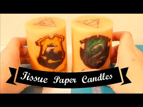 DIY Custom Candles/ Harry Potter Themed