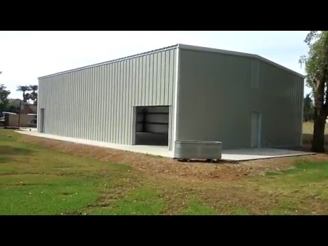 Steel Building with Mezzanine