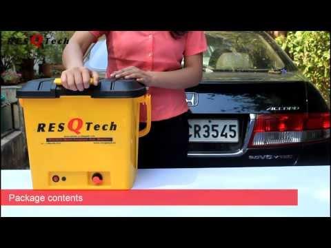 ResQTech 28 liter Rechargeable Battery Bucket  Car Washer