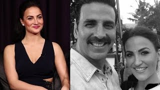 Elli Avram On Working With Akshay Kumar in Naam Shabana